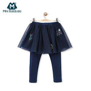 迷你巴拉巴拉女童裤子女宝宝假两件裙裤打底裤儿童秋装裤子