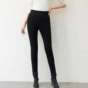 雅鹿高腰羽绒裤女加厚冬季保暖显瘦