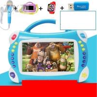 儿童早教机触摸屏可连wifi点读机0-3岁6岁视频故事宝宝学习机 7寸按键+8G 蓝