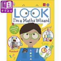 【中商原版】DK看看我是数学天才Look Im a Maths Wizard 3-5岁