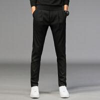 Lee Cooper2020春夏新款修身小脚裤子男冰丝潮流系绳运动裤男士休闲裤男裤