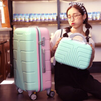 拼色行李箱拉杆箱女万向轮旅行箱子母箱20寸22寸24寸26密码箱