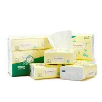 非湿纸巾 100抽6包 婴儿棉柔巾 宝宝干湿两用