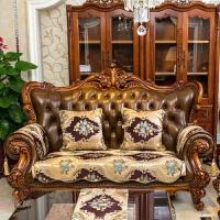欧式沙发垫奢华布艺四季皮沙发坐垫夏季扶手巾沙发巾通用