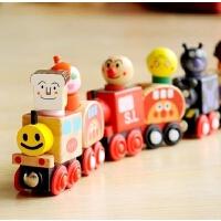 木质面包超人玩具汽车磁性组合套装托马斯小火车儿童趣味玩具礼物