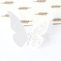 创意装饰品卧室空调冰箱装饰纸3D立体仿真镂空珠光纸蝴蝶墙贴婚房 中