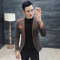 英伦风西装 便西潮韩版男装时尚高端面料修身男士休闲西服外套