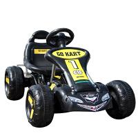 儿童电动四轮卡丁车可坐宝宝玩具汽车小孩脚踏两用自行车沙滩摩托