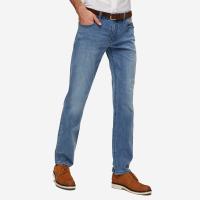 网易严选 男式天丝舒弹高腰直筒牛仔裤