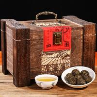 普洱茶古树手工龙小珠沱茶生茶叶木质礼盒装500g