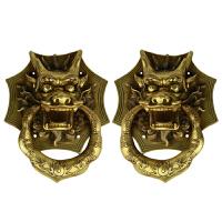 环仿古门环中式龙头拉手家居装饰挂件铜门环黄铜门