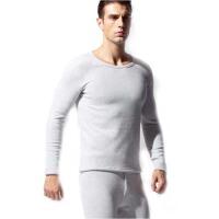 保暖内衣男厚加绒 套装冬季简约双层大码圆领修身纯棉毛衫