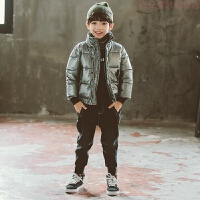 男童棉衣2018新款短款�和�冬�b外套6加厚7棉�\8男孩9羽�q10�q