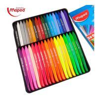 MAPED 马培德 塑料 儿童 蜡笔 套装 24/36色 幼儿园 安全 无毒 腊笔