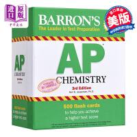 【中商原版】巴朗AP化学备考卡片(第3版)英文原版 Barron's AP Chemistry Flash Cards