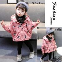 女童秋冬装宝宝棉衣服宝宝加厚风衣外套儿童棉袄女童外套1-3-5岁 粉色-