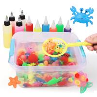 diy材料模具儿童玩具 魔幻水精灵神奇水宝宝海洋晶珠手工自制作