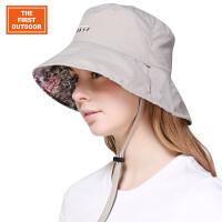【下单即享7折优惠】TFO 双面可戴 时尚印花 美国市场同步款 女款速干大檐太阳帽子