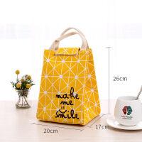 拎装饭盒的手提包防水保温袋子帆布便当包大号学生带饭包午餐盒包