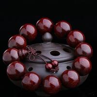 满金星印度小叶紫檀手串男女款2.0佛珠手链老料高密度檀香木