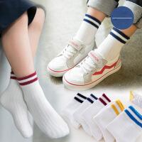 儿童袜子棉1-3-5-7-9岁学生白袜运动中筒袜演出袜宝宝袜子春秋