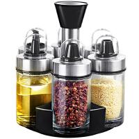 调味罐套装家用旋转调料盒多功能调味盒组合装调料罐