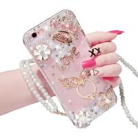 iphone6手机壳苹果6plus水钻保护套6s硅胶外壳支架挂绳女