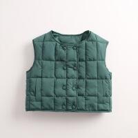 秋冬新款儿童羽绒棉马甲男女童婴儿保暖棉衣宝宝外穿立领背心反季