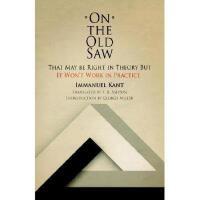 【预订】On the Old Saw: That May Be Right in Theory But It