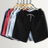 夏天色亚麻短裤男薄款青年五分裤舒适透气中国风棉麻沙滩裤男裤