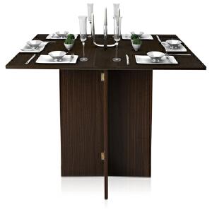 [当当自营]慧乐家 泊雅特简约折叠餐桌胡桃木色11072  餐桌可折叠 优品优质