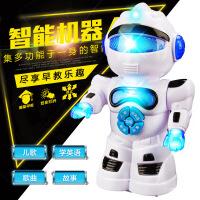 哈比比玩具 4289儿童多功能智能机器人 早教故事机T1万向走路模型玩具 男孩玩