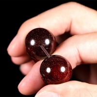 印度小叶紫檀手串8mm满金星珠子檀木手链108颗佛珠项链男红木文玩