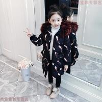 女童棉衣2018新款儿童中长款中大童加厚棉袄女孩冬装韩版外套