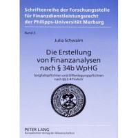【预订】Die Erstellung Von Finanzanalysen Nach 34b Wphg: