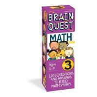 【现货】英文原版Brain Quest:Grade 3 Math儿童智力开发系列卡片 3年级数学
