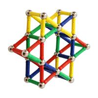磁力棒儿童玩具368岁男女孩散装磁铁拼装积木吸铁石儿童节礼物 50直棒50球含大张图册 入门级数量喜欢玩