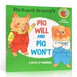 顺丰发货 英文原版绘本 Richard Scarry's Pig Will and Pig Won't 斯凯瑞 绘本
