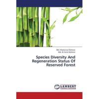 【预订】Species Diversity and Regeneration Status of