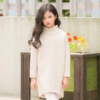 2019 女童毛衣粗线冬装中大童韩版羊毛外套新款童装
