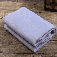 毛巾被 小毛毯子单人冬天薄珊瑚法兰绒毛毯被子冬季薄款 车用毛毯 70cmX100cm