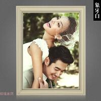 美式简约婚纱相框创意挂墙24 36寸影楼结婚照放大画框全家福定做