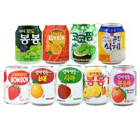 海太饮料韩国进口果粒果汁办公室休闲解渴饮品238ml罐装 9种口味组合装