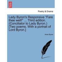 """【预订】Lady Byron's Responsive """"Fare Thee Well!"""" ... Third"""