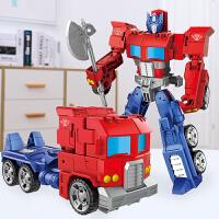 男孩儿童模型变形玩具擎天大黄蜂变形机器人汽车人
