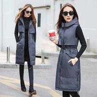 棉衣马甲女士外套秋冬新款韩版无袖中长款加厚马夹外套潮