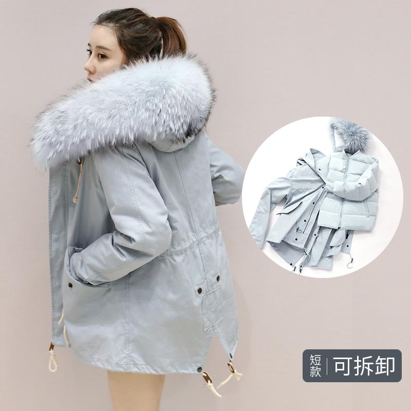 【限时抢购 到手价:339】yaloo/雅鹿韩版时尚修身显瘦环保大毛领保暖短款羽绒服女