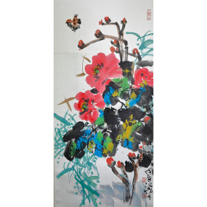 Y137林墉《花卉》