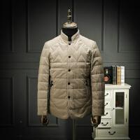 国内单 品质男装秋冬立领中式羽绒服轻薄时尚休闲羽绒外套简约