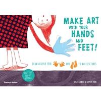 Make art with your hands and feet! 艺术创意涂画书籍 用你的手和脚创作 儿童艺术图书